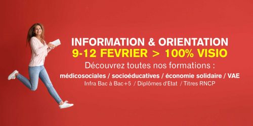 Semaine d'information et orientation 100% visio à INITIATIVES Paris sud